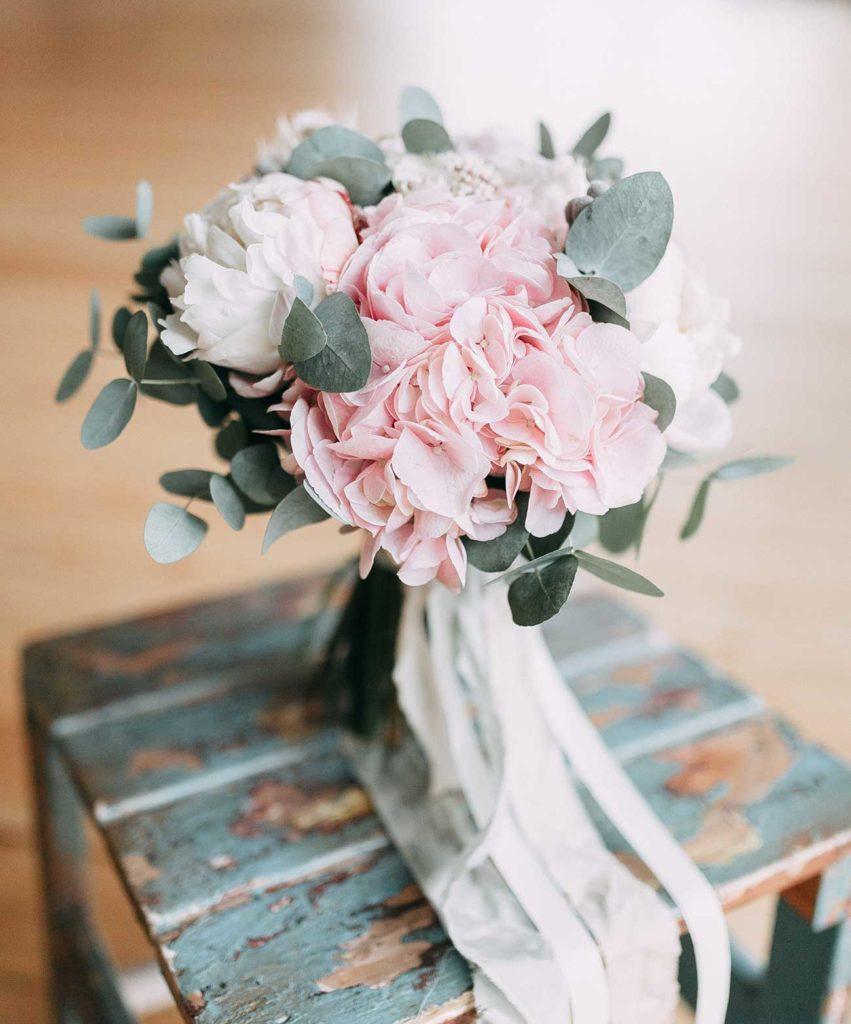 Bouquet invernale rosa