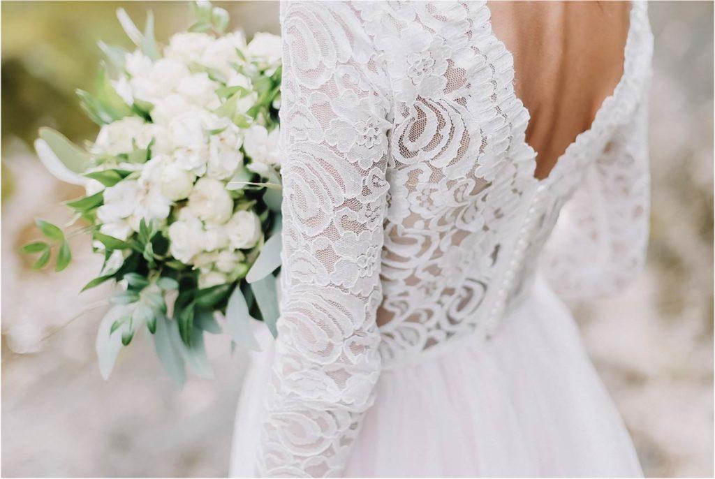Bouquet invernale bianco e verde